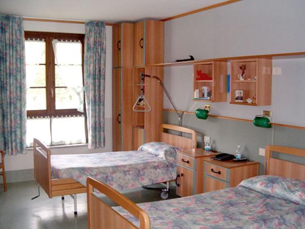 Una delle camere degli ospiti