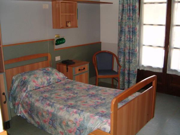 Una delle camere per gli ospiti