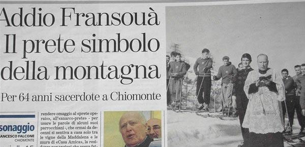 In ricordo di Don Fransouä